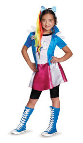 kids equestria rainbow dash girls pony deluxe costume 43 99