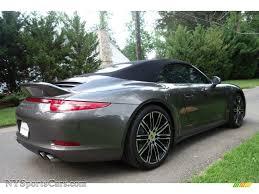 porsche agate grey 2015 porsche 911 carrera 4s cabriolet in agate grey metallic photo