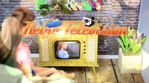 diy working doll vintage television handmade