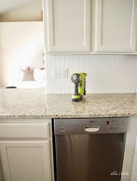 how to put backsplash in kitchen 30 beadboard kitchen backsplash tutorial ella