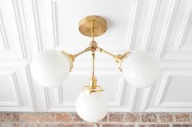 Brass Lighting Fixtures by Semi Flush Globe Light Ceiling Hanging Lamp Dining Room