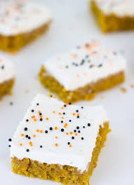pumpkin cake bars with brown butter frosting blahnik baker