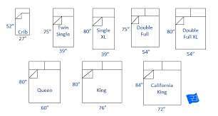 Crib Mattress Sizes Chart Bed Sizes And Space Around The Bed