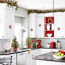 Red And White Kitchen by 23 Ways To Decorate Your Kitchen For The Holidays