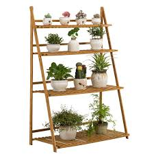 floor plants home decor bamboo plant shelves floor type storage holders racks for plants