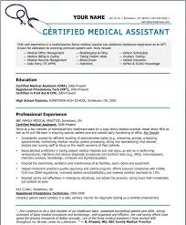 Resume Templates Design Resume Template For Medical Assistant Medical Resume Examples