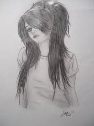 drawn emo pencil pencil and in color drawn emo pencil