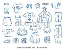 hand drawn man accessories vector set download free vector art