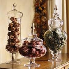 decorative glass containers pine cones Google Search