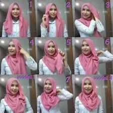 tutorial memakai jilbab paris yang simple cara berhijab yang simple modern dan modis terbaru
