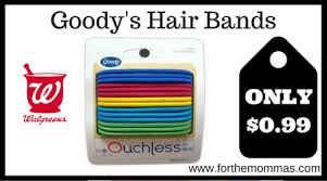 goody s hair walgreens goody s hair bands only 0 99