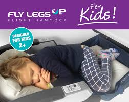 Comfort On Long Flights Kids Fly Legsup Flight Hammock For Children