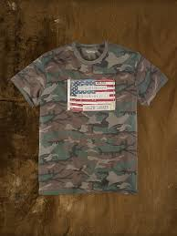 Military Flag Patch Lyst Denim U0026 Supply Ralph Lauren Flag Patch Camo Tee In Green
