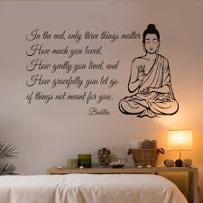 wall art stickers matter promotion shop for promotional wall art dctop only three things matter yoga gym decor buddha wall sticker for living room wall decals art mural quote home decoration