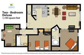 2 bedroom floor plans 2 bedroom floor plan deluxe picture of legacy vacation resorts