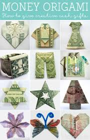 wedding gift of money how to fold money origami or dollar bill origami