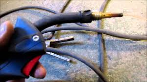 mig welder leaking losing gas solenoid fix repair youtube