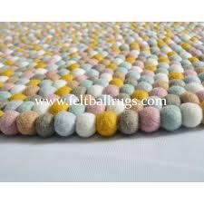 Rugs Round by Handmade Round Felt Ball Rugs Felt Ball U0026 Rugs