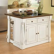 lowes kitchen islands shop home styles white midcentury kitchen islands 2 stools at