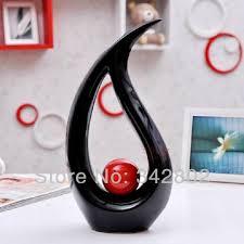 Black And White Vases Modern Water Shape Ceramic Vase For Home Decor Tabletop Vase Red
