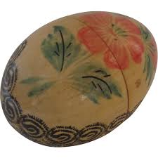 painted wooden easter eggs vintage painted wooden easter egg opens from blacktulip on