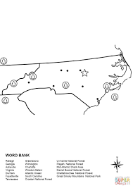 Blank Map Of Mid Atlantic States by North Carolina Map Worksheet Coloring Page Free Printable