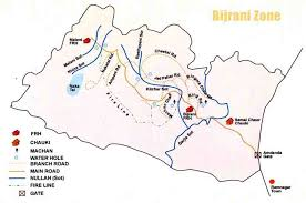 safari zone map bijrani safari zone corbett bijrani tourism zone map in corbett