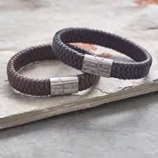 bracelet gold leather man images Men 39 s leather bracelets bracelets for him jpg