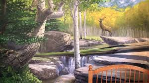 Forest Mural by How To Paint A Forest Mural Final Mural Joe In Depth Youtube