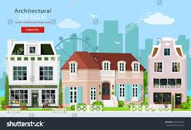 modern graphic architectural design cute european stock vector