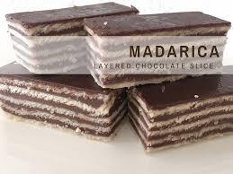 croatian recipes madarica layered chocolate slice croatian