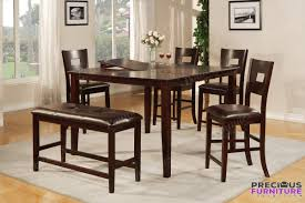 square dining room table with leaf f2335 dark brown wood 6pcs leaf square dining table set with bench