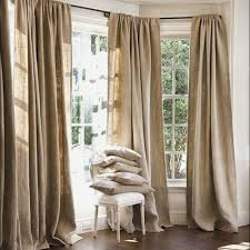 inspirational burlap curtains lined tsumi interior design