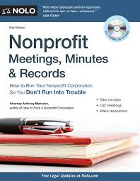 nonprofit meetings minutes u0026 records how to run your nonprofit