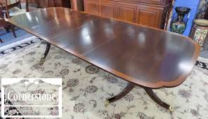 stickley mahogany dining table stunning stickley mahogany banded traditional double pedestal dining