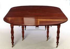 fine french 18th century mahogany extending drop leaf dining table