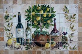 hand painted tile murals