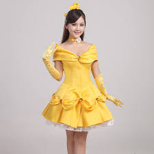 yellow wedding dress beauty and the beast costumes princess yellow dress