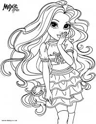 moxie girlz coloring pages with colouring pages shimosoku biz