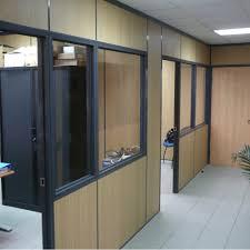 cloisonnette de bureau cloison de bureau semi vitrée luxe catã gories cloison
