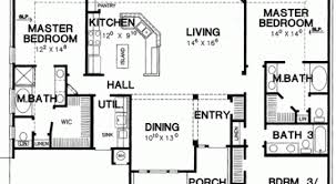 27 home floor plans with 2 master bedrooms house plans with two