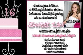 sweet 16 birthday invitations disneyforever hd invitation card