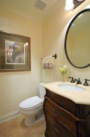 oil rubbed bronze mirror powder room traditional with bathroom