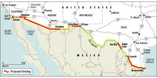 map us mexico border states proposed fence location forgotten histories of the u s mexico