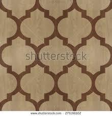 Oriental Decor Decorative Wooden Bricks 3d Wallpaper Interior Stock Illustration