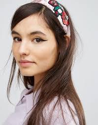 velvet headband asos limited edition embroidered velvet headband
