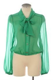 green chiffon blouse green chiffon michal zoe blouses elaine neck tie blouse by