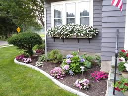 cheerful floral border and window boxes best front yard
