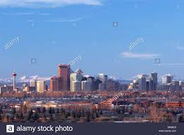 backdrop city city skyline with mountain backdrop calgary alberta canada