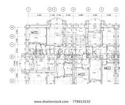 floor plan layout part detailed architectural plan floor plan stock vector 779913532